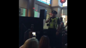 Sgt Jon Harris singing